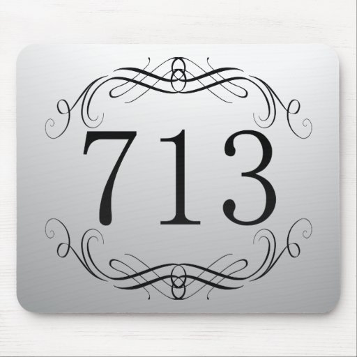 713 Area Code Mouse Pad