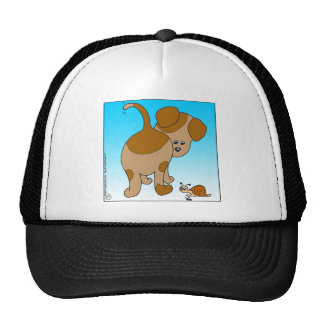713 dog snail ant cartoon trucker hat