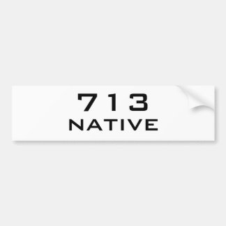 713 Native-Bumper White Bumper Sticker