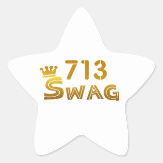 713 Texas Swag Star Sticker