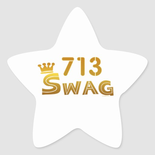 713 Texas Swag Star Stickers
