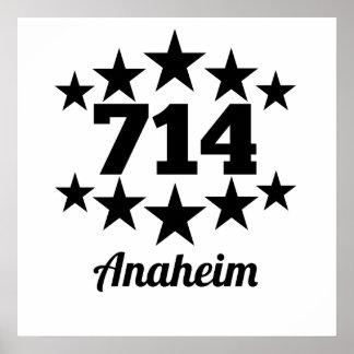 714 Anaheim Poster