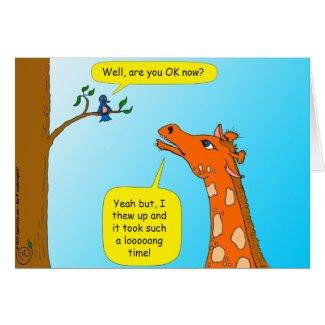 714 giraffe cartoon get well card