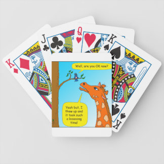 714 threw up long time cartoon bicycle playing cards