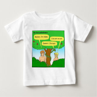 715 adam and eve palindromes cartoon baby T-Shirt