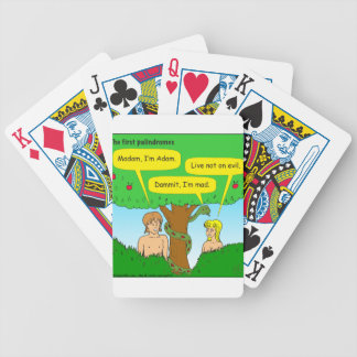 715 adam and eve palindromes cartoon bicycle playing cards