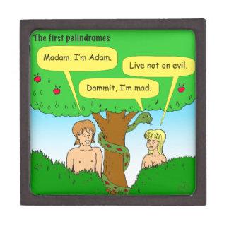 715 Adán y dibujo animado de los palindromes de la Caja De Regalo De Calidad