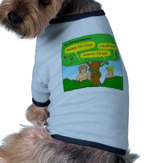 715 Adán y dibujo animado de los palindromes de la Camiseta Con Mangas Para Perro