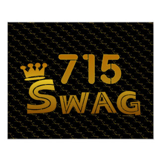 715 Area Code Swag Posters