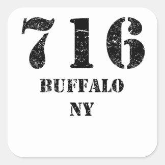 716 Buffalo NY Square Sticker