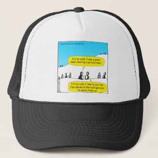 716 it was so cold penguins cartoon trucker hat