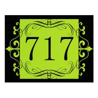 717 Area Code Postcard