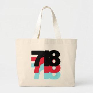 718 Area Code Canvas Bag