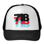718 Area Code Mesh Hats
