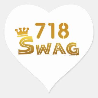 718 New York Swag Heart Sticker