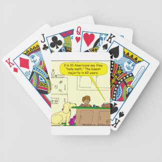 719 hate math cartoon bicycle playing cards