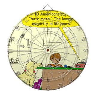 719 hate math cartoon dart board