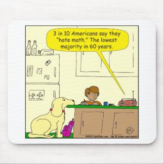 719 hate math cartoon mouse pad