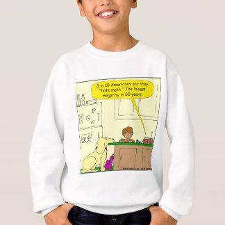 719 hate math cartoon sweatshirt