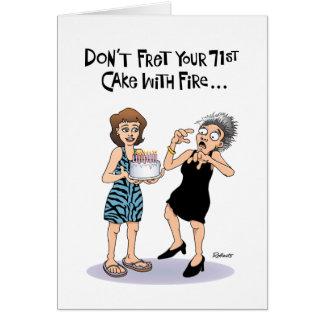71.a tarjeta de cumpleaños divertida para ella