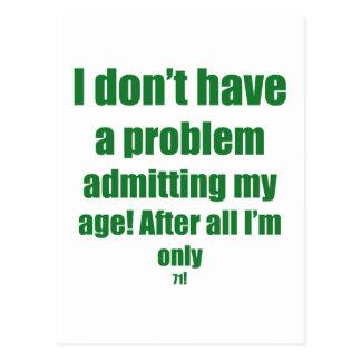 71 admita mi edad postal