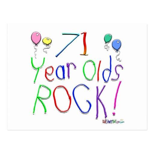 ¡71 años de la roca! postal