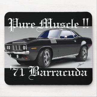 '71 Barracuda Pure Muscle !! Mousepad
