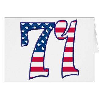 71 edad los E.E.U.U. Tarjeta De Felicitación