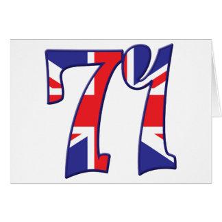 71 edad Reino Unido Tarjeta De Felicitación