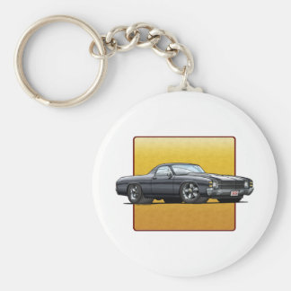 71 El Camino Basic Round Button Keychain