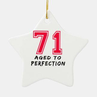 71 envejeció al diseño del cumpleaños de la perfec ornato