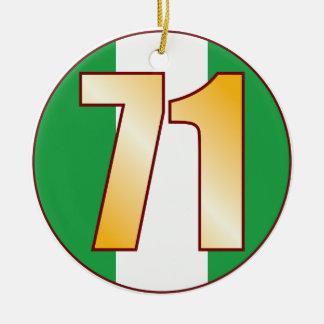 71 NIGERIA Gold Ceramic Ornament