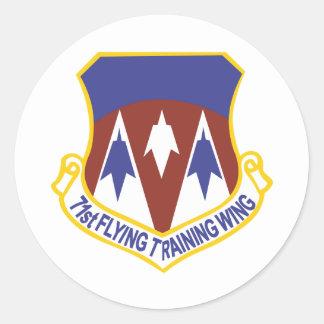 71.o Ala del entrenamiento del vuelo Pegatina Redonda