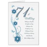 71.o cumpleaños en trullo con las flores y la mari felicitacion