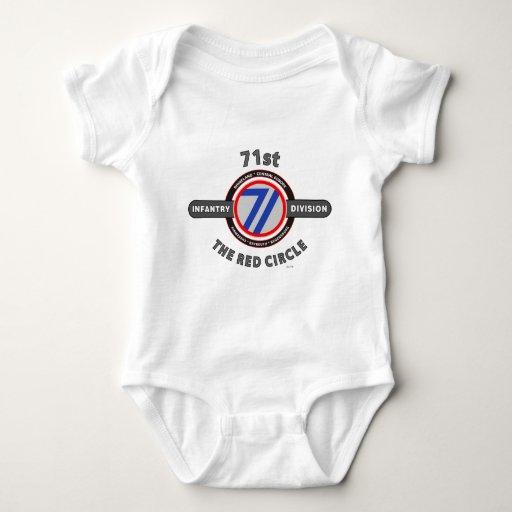 """71.o DIVISIÓN de INFANTERÍA """"El CÍRCULO ROJO """" Body Para Bebé"""