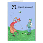 71.o Tarjeta de cumpleaños para un golfista