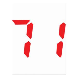 71 setenta y uno números digitales del despertador postal