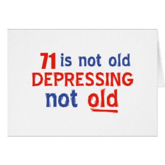 71 year birthday designs card