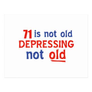 71 year birthday designs postcard