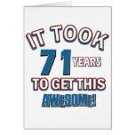 71 year old birthday designs card