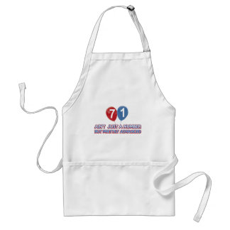 71 year old design adult apron