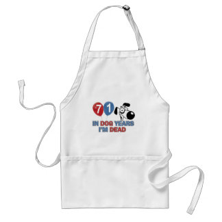 71 year old Dog years designs Adult Apron