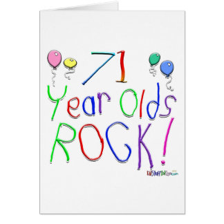 71 Year Olds Rock! Greeting Card