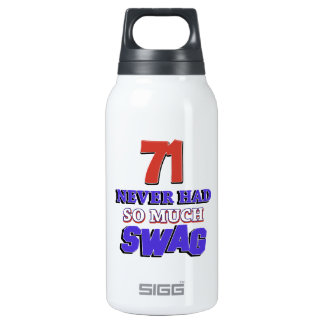 71 years Old birthday designs Insulated Water Bottle