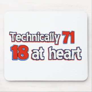 71 years Old birthday designs Mouse Pad