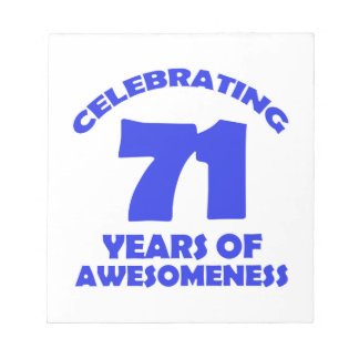 71 years old birthday designs notepad