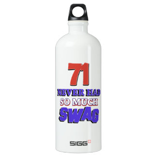 71 years Old birthday designs Water Bottle
