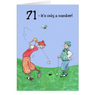 71st Birthday Card for a Golfer