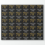 [ Thumbnail: 71st Birthday: Elegant Luxurious Faux Gold Look # Wrapping Paper ]