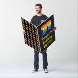 [ Thumbnail: 71st Birthday: Fun, Colorful, Happy, Rainbow # 71 Card ]